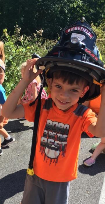 fire dept cute kid
